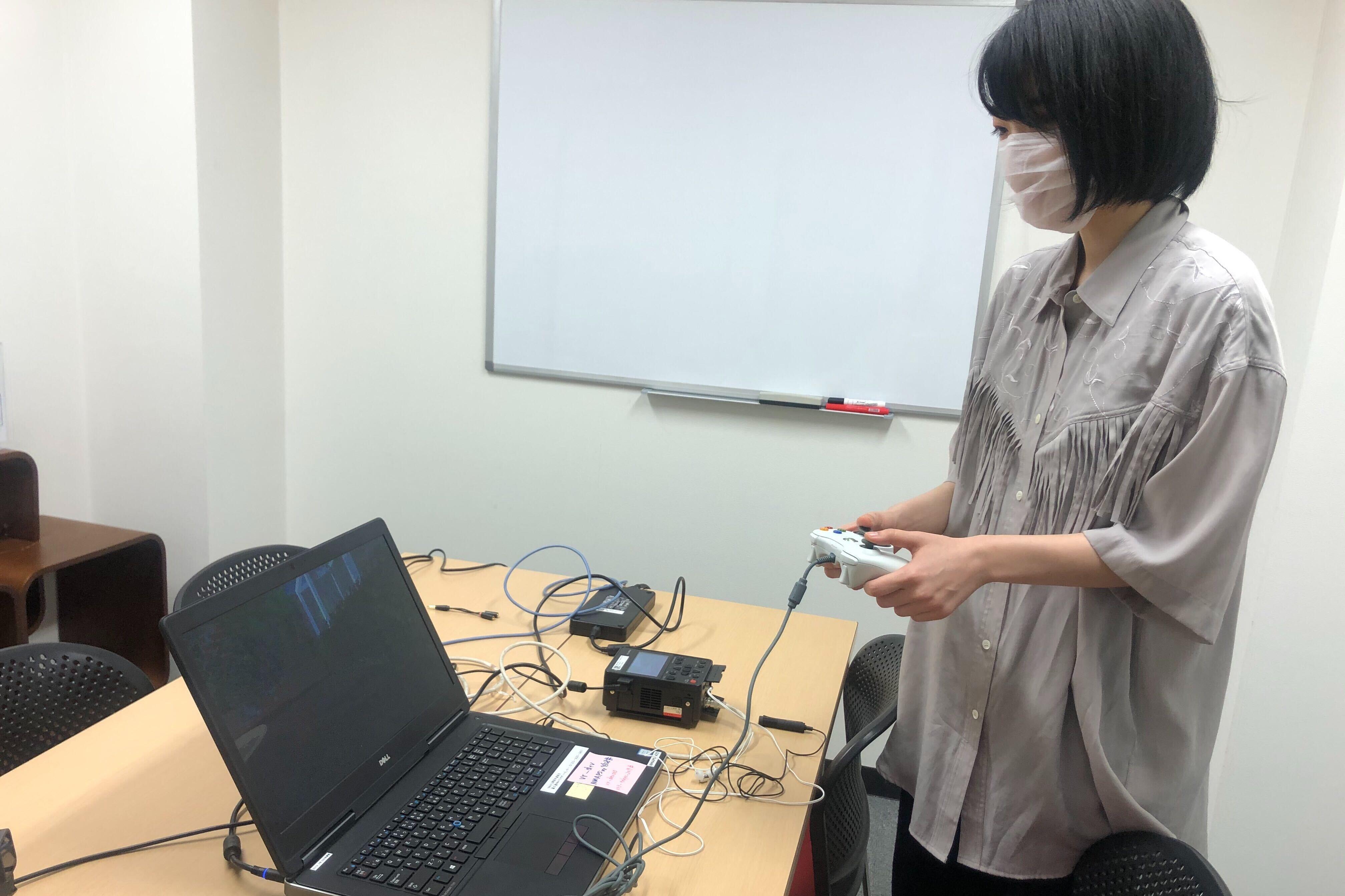 【5/29放送予定】社長VS新卒6年目女性社員 VRで本音トークする番組収録のオフショット