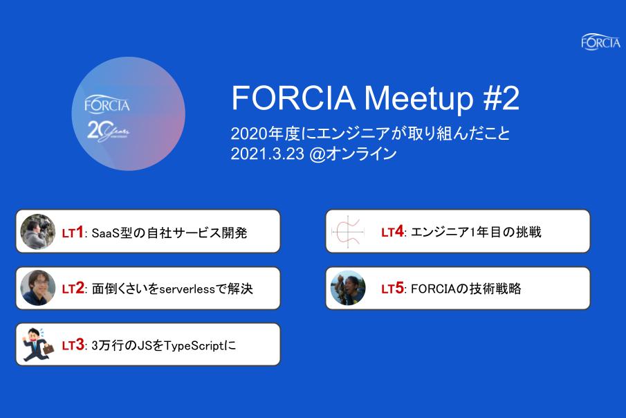 FORCIA Meetup 2 開催しました